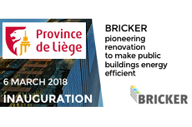 Marking the completion of the retrofitting works at BRICKER's Belgian demo site – The Haute Ecole in Liège.