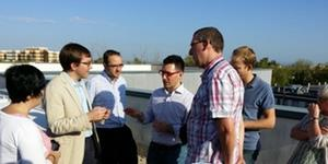 BRICKER partners visit the demo building in Caceres.