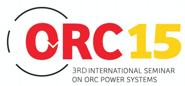 ASME-ORC 2015 – 3rd International Seminar on ORC Power Systems