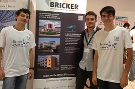 BRICKER – students working on BRICKER are awarded first prize for presentation at  Researchers' Night – Trento, Italy